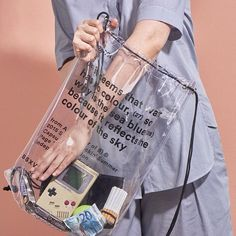 PAGE THREE HUNDRED Label&Studio designed the branding for 'from A to B (fear of B)', a limited edition capsule collection of minimalist transparent backpacks and coats. Look Casual, Casual Chic, Look Fashion, Womens Fashion, Fashion Design, 90s Fashion, Fashion Bags, Sea Colour, Color