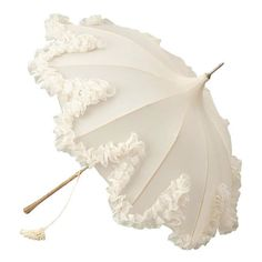 Parasol , 1960s ❤ liked on Polyvore featuring accessories, umbrellas, fillers, parasol, white and white umbrella