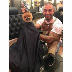 awwww-cute:At the Barber (Source: http://ift.tt/2ohZPBJ)