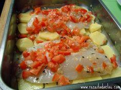 Tilápia ao forno com batatas | Acompanhamentos > Receitas com Batata…