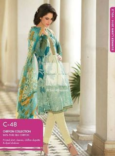 Gul Ahmed Chiffon Collection 2014 Volume II