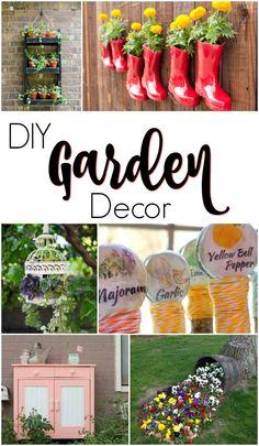 Spruce up your garden with these creative DIY garden decor ideas.