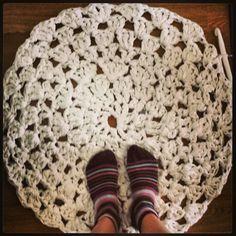 Mi primera alfombra ganchillo XL