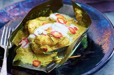 Fish Amok. This is the most authentic recipe I could find on the net, think it is similar to the one in Gordon Ramsay's SE Asia cookbook. I usually don't bother with the banana leaf...
