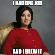 Clinton blow job monica