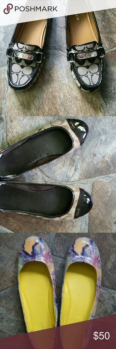 PR of Nine West AUTHENTIC COACH LOAFERS Sz 7 1/2, COACH FLATS sz 7 1/2 & a Pr of NINE WEST SZ  8 These were never worn by me they were purchased by me but don't fit :( my loss is your gain & yes I do bundle ? These are perfect! Nine West Shoes Flats & Loafers