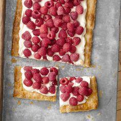 raspberri tart, dessert recipes, tart recipes, berry desserts, easi raspberri, country living magazine, puff pastries, berry recipes, raspberries