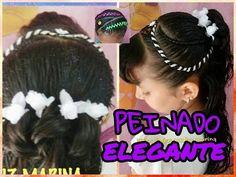 PEINADO INFANTIL/CON FLORES/FACIL/BONITO. - YouTube Hairstyle, Ear, Youtube, Fashion, Olinda, Popular Hairstyles, Child Hairstyles, Girls Hairdos, Plaits Hairstyles