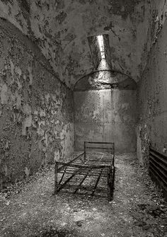 The Eastern State Penitentiary is located in Philadelphia PA. The Penitentiary, built in the 1820's-30's,  is a National Historic Landmark now open to the public and is run by a non profit group who offer guided and unguided tours of the old prison.
