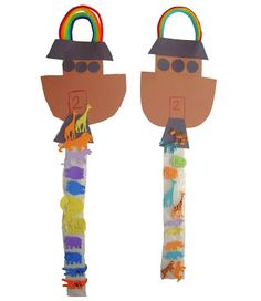 Noah's Ark Craft - Great for reviewing the Number 2 with your preschooler!