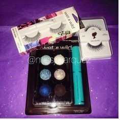 """Wet n Wild Bundle New in package. Baked eyeshadow palette, 6 different colors including a """"megawear"""" mascara.  Lashes in """"Shutter Shock"""" & Miss Adoro Lashes in #47   🚫NO TRADE. Wet n Wild Makeup Eyeshadow"""