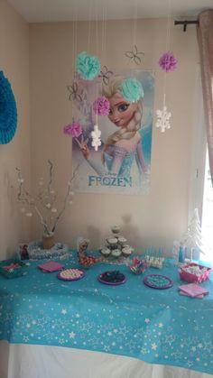 Sweet table reine des neige