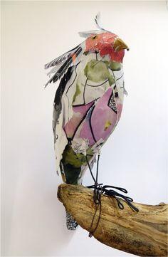 Book Transformation: Flock of Birds - Cockatoo. http://www.accessart.org.uk/book-transformation-flock-of-birds/