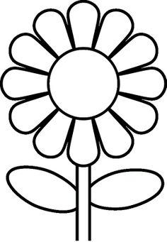 Flower coloring pages: A single flower | Free printable, Flowers and ...
