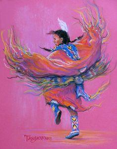 Native American Indian Dancer Painting - Shawl Dancer by Tanja Ware Native American Decor, Native American Paintings, Native American Wisdom, Native American Artists, American Indian Art, Native American History, American Indians, American Symbols, American Women