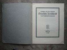 Rudolf Koch | Zierschrift