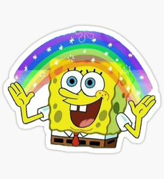 "imagination meme Sticker spongebob imagination meme Sticker , spongebob imagination meme Sticker , Pegatina Imaginación Bob Esponja Spongebob Pink Glasses Sticker SpongeMeme Sticker Squidward Dab'en on em Sticker ""lisa"" Stickers by odinsxn Stickers Kawaii, Meme Stickers, Phone Stickers, Printable Stickers, Cartoon Stickers, Cool Stickers, Imagination Spongebob, Bubble Stickers, Laptop Stickers"