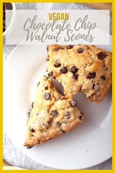 Vegan chocolate chip scones are vegan-friendly take on scones that are easy to make and delicious. They are the perfect morning breakfast or mid afternoon snack. Flaky, buttery, and delicious! #mydarlingvegan #veganscones #veganchocolatechipscones #vegandesserts #veganbreakfast Mid Afternoon, Afternoon Snacks, Morning Breakfast, Vegan Friendly, Scones, Cookies, Chocolate, Easy, Desserts