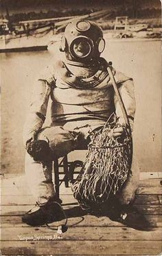 Vintage diving suit photograph