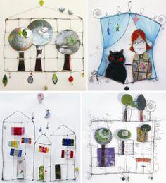 Ana Moraes es una artista brasileña, de Sao Paolo, que utiliza básicamente material de desecho para crear sus originales piezas