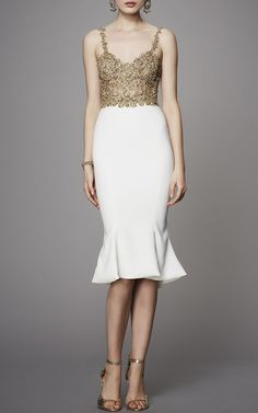 Marchesa Beaded Sleeveless Dress