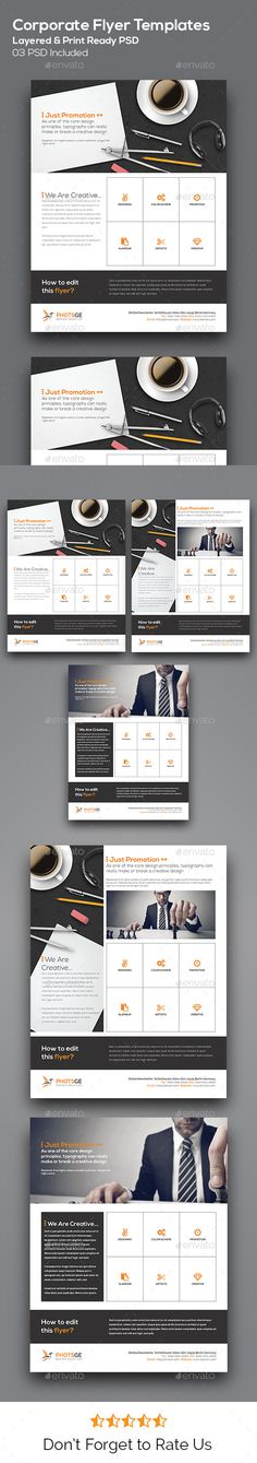 Corporate Flyer Template: Corporate Flyer / Corporate Business Flyer Template for Promoting business services based campaign. Everything is layered, grouped and well organised. Easy to edit the text, color & image. Simply edit the text & place the logo.