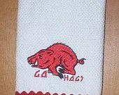 Razorback dish towel