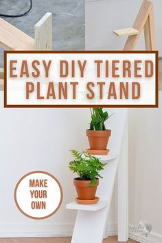 Fun modern DIY tiered plant stand that's perfect indoors or out. Build your own today using scrap wood and the plans and tutorial for this tiered plant stand DIY at Anika's DIY Life #tieredplantstand #scrapwoodproject #AnikasDIYLife Kreg Jig Projects, Scrap Wood Projects, Woodworking Projects That Sell, Diy Woodworking, Furniture Projects, Furniture Plans, Diy Furniture, Diy Projects, Diy Plant Stand