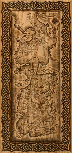 Woodburning PRINT Game of Thrones Map Westeros by burntstuff