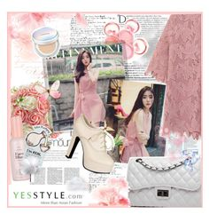 """""""YesStyle"""" by heaven-on-earth ❤ liked on Polyvore featuring beauty, Balmain, Polaroid, chuu, Bense Bags, Sidewalk, Etude House, Tony Moly and Laneige"""