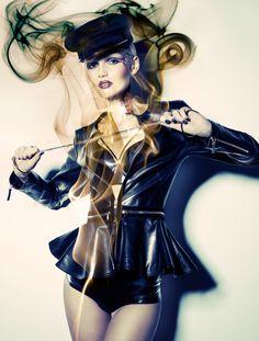 Lenka Hanakova by Julia Saller for 1st Magazine (Dec 2011) 'Black Magic'