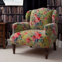 Image result for bright french upholstered bed & floral chintz sofa | Country English - pretty yellow chintz chair ...
