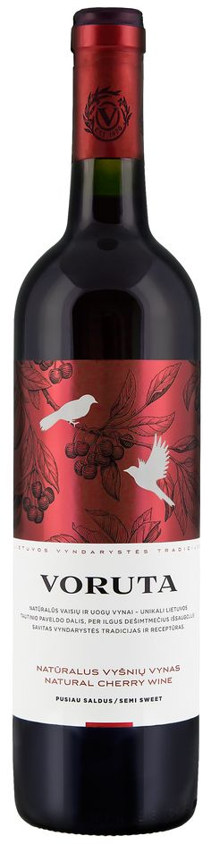 """Packaging design update for Lithuanian fruit and berry wine """"Voruta"""""""