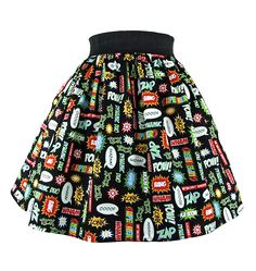 Inked Boutique - Super Hero Pleated Skirt Retro Vintage Inspired Rockabilly Clothing http://www.inkedboutique.com