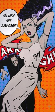 All Men Are Savages by Mike Bell Frankenstein Bride Giclee Art Print – moodswingsonthenet