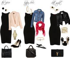 fashionistaz: HOW TO WEAR : SIMPLE BLACK DRESS