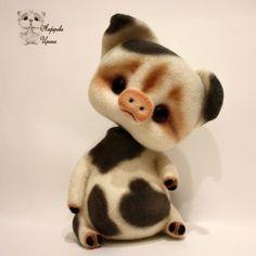 Хрюшка Сонечка, ок.18 см #поросенокизшерсти #валянаяхрюшка #сухоеваляние #ручнаяработа #шерсть #поросенок #handmade #irinaalferova #toy #teddy #иринаалферова #продается #сонечка #игрушка #подарок #сувенир #хрюшка #хрюшкасонечка #белыйпоросенок