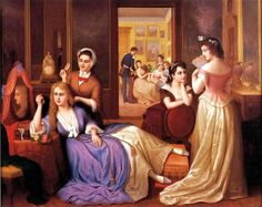 Henry Bebie (Amerian artist, 1824–1888) Conversation Group of Baltimore Girls