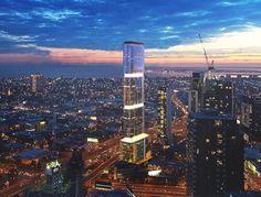 Sol Invictus Tower: rascacielos alimentado por energía solar. La firma de arquitectos Peddle Thorp diseñó Sol Invictus Tower, un rascacielos solar para la ciudad australiana de Melbourne, de 60 plantas de altura. Es bastante previsible que se convierta en el primer edificio en altura del mundo en funcionar con energía solar y eólica. Tendrá unos 3.300m2 de superficie fotovoltaica (fachada+cubierta), además de aerogeneradores en su azotea. Sus baterías almacenarán en