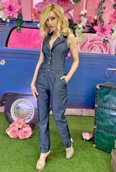 Overalls, Jumpsuit, Poses, Dresses, Fashion, Style, Clothing, Figure Poses, Vestidos