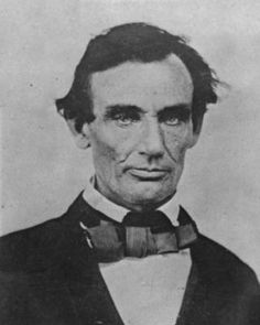 Early photograph of Abraham Lincoln two weeks before his final Lincoln-Douglas Debate. (c. October 1858).