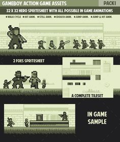 Gameboy Action Game Pack1