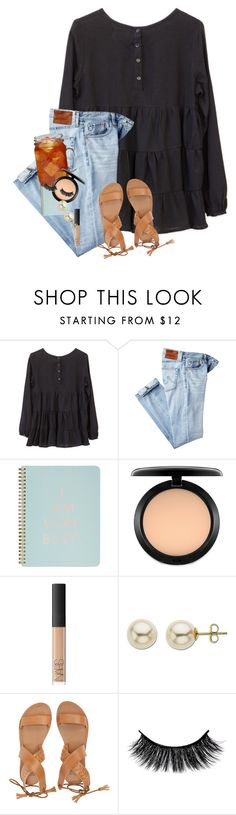 """Sunshine mixed with a little hurricane"" by erinlmarkel ❤ liked on Polyvore featuring AG Adriano Goldschmied, ban.do, Ball, MAC Cosmetics, NARS Cosmetics, Lord & Taylor and Billabong"
