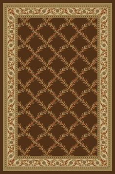 Hammam Maxy Home Floral Box Chocolate/Brown Area Rug
