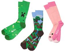 NX : Minecraft Happy Socks 3 Pack - Clothing Inspired by Video Games Geek Culture Minecraft Outfits, Minecraft Gifts, Minecraft School, Minecraft Toys, Minecraft Creations, Cool Minecraft, Minecraft Clothes, Minecraft Ideas, Minecraft Merchandise