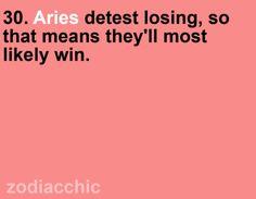Its like I always say...I HATE losing. I hate losing MORE than I love winning.