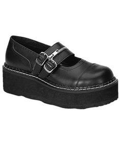 LOVE EMILY-306 Black Maryjane Shoes - platform shoes