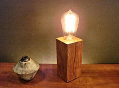 Your place to buy and sell all things handmade Edison Lamp, Lamp Cord, Biltmore Estate, Wood Lamps, Danish Modern, Pear, Candle Holders, Porcelain, Mid Century