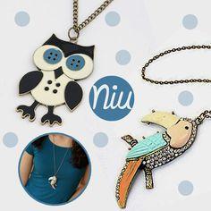 Collares de Buho y tucán,  encuentra esto y mucho más en: www.niuenlinea.co Enamel, Owl Necklace, Necklaces, Accessories, Vitreous Enamel, Enamels, Tooth Enamel, Glaze