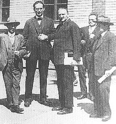 Second Viennese School composers Schoenberg, Klemperer, Scherchen, Webern and Erwin Stein in 1924.Many of these guys were persecuted during the Third Reich